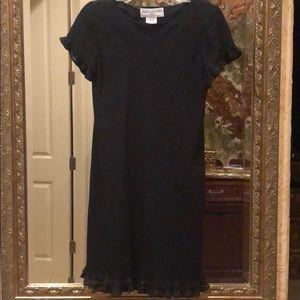 Jessica Howard Ruffled little black dress